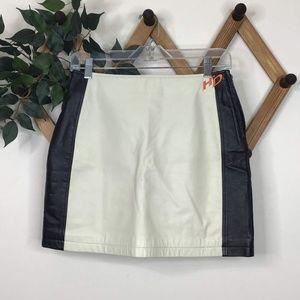 Harley-Davidson High Waist Leather Mini Skirt